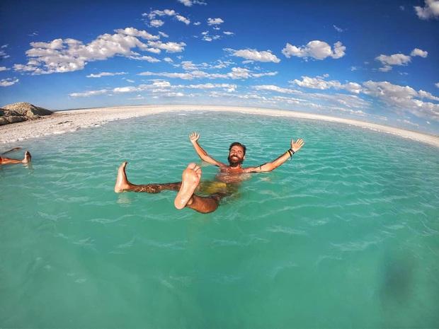 """Địa điểm nơi Vũ Khắc Tiệp """"mượn ảnh"""" để đăng lên Instagram: Hồ muối """"ảo diệu"""" nhất nước Mỹ, khách du lịch check-in nườm nượp - Ảnh 14."""