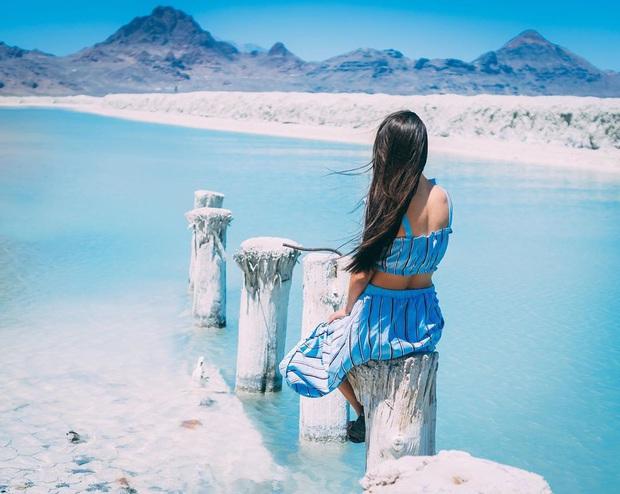 """Địa điểm nơi Vũ Khắc Tiệp """"mượn ảnh"""" để đăng lên Instagram: Hồ muối """"ảo diệu"""" nhất nước Mỹ, khách du lịch check-in nườm nượp - Ảnh 26."""