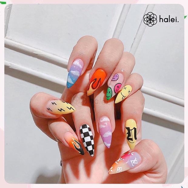 Loạt mẫu nail của Lisa quá xịn, dự là sẽ thành hot trend, các tiệm nail sắp copy rần rần - Ảnh 5.