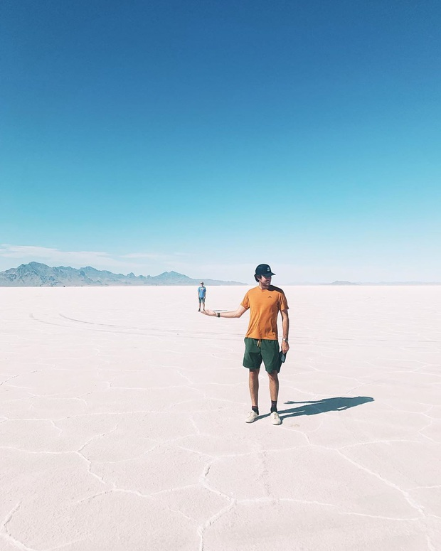 """Địa điểm nơi Vũ Khắc Tiệp """"mượn ảnh"""" để đăng lên Instagram: Hồ muối """"ảo diệu"""" nhất nước Mỹ, khách du lịch check-in nườm nượp - Ảnh 16."""