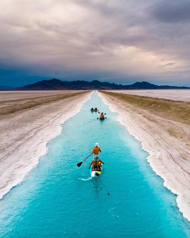 """Địa điểm nơi Vũ Khắc Tiệp """"mượn ảnh"""" để đăng lên Instagram: Hồ muối """"ảo diệu"""" nhất nước Mỹ, khách du lịch check-in nườm nượp - Ảnh 5."""