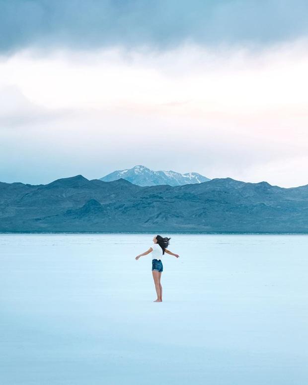 """Địa điểm nơi Vũ Khắc Tiệp """"mượn ảnh"""" để đăng lên Instagram: Hồ muối """"ảo diệu"""" nhất nước Mỹ, khách du lịch check-in nườm nượp - Ảnh 4."""