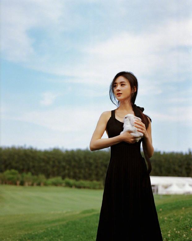 Sau bê bối copy Dương Mịch, Triệu Lệ Dĩnh gây náo loạn với bộ ảnh mới: Visual hút hồn, eo và rãnh lưng như đòi mạng - Ảnh 4.