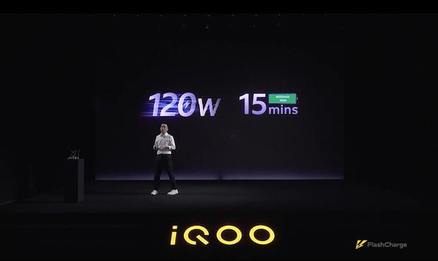 iQOO ra mắt sạc nhanh 120W đầu tiên trên thế giới, sạc đầy pin smartphone chỉ trong 15 phút - Ảnh 1.