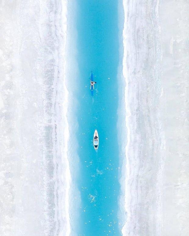 """Địa điểm nơi Vũ Khắc Tiệp """"mượn ảnh"""" để đăng lên Instagram: Hồ muối """"ảo diệu"""" nhất nước Mỹ, khách du lịch check-in nườm nượp - Ảnh 6."""