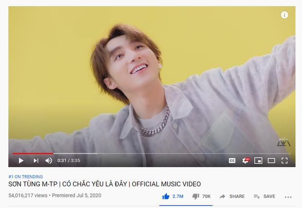 Bị Binz soán ngôi #1 trên Spotify Việt Nam, nhưng Sơn Tùng đã kịp leo thẳng Top 3 MV đỉnh nhất YouTube thế giới tuần qua rồi đây này! - Ảnh 2.