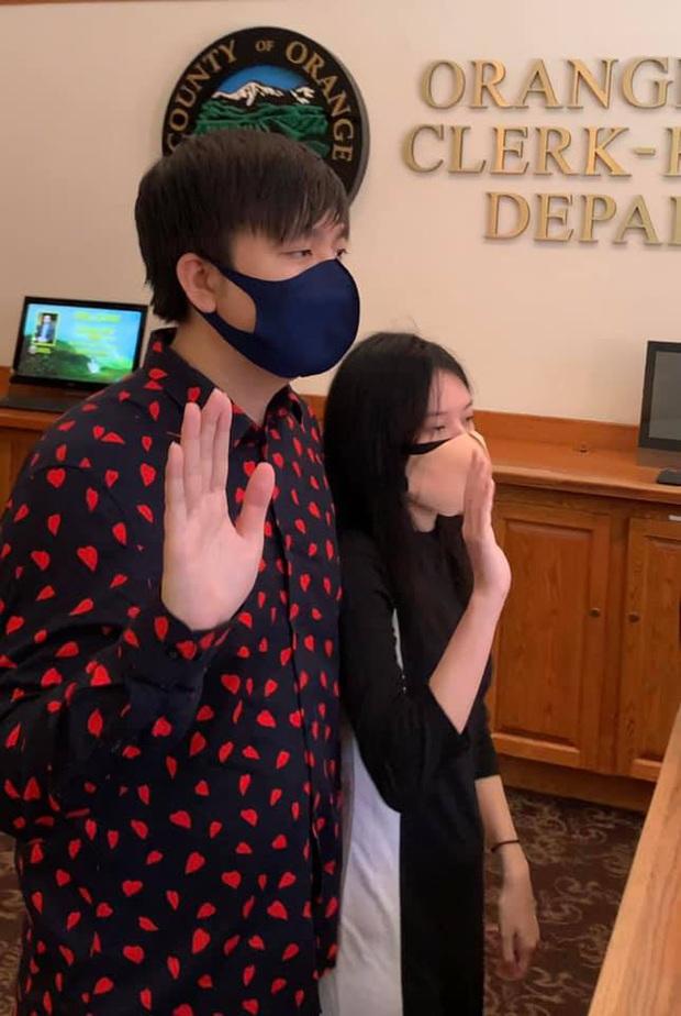 Anh Khang thông báo đã đăng ký kết hôn tại Mỹ, lần đầu để lộ diện mạo bạn gái sau bao năm giấu kín - Ảnh 3.