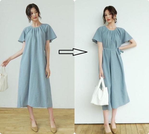 Cùng là váy thắt eo: Có dáng phơi bày bụng ngấn mỡ, có dáng lại khéo che nhược điểm - Ảnh 1.