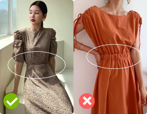Cùng là váy thắt eo: Có dáng phơi bày bụng ngấn mỡ, có dáng lại khéo che nhược điểm - Ảnh 2.
