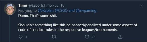 Để lộ cụm từ nhạy cảm khi ăn mừng, tuyển thủ CS:GO bị cộng đồng lên án dữ dội - Ảnh 3.