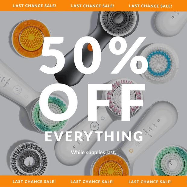 Thương hiệu máy rửa mặt Clarisonic tuyên bố đóng cửa, giảm giá 50% toàn bộ sản phẩm để xả hàng - Ảnh 2.