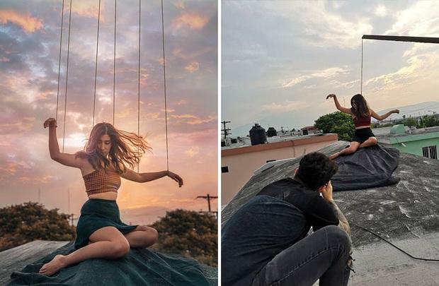 Loạt hậu trường khó đỡ của những bức ảnh long lanh trên Instagram khiến dân tình phải nể phục óc sáng tạo của hội phó nháy - Ảnh 9.