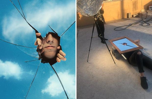 Loạt hậu trường khó đỡ của những bức ảnh long lanh trên Instagram khiến dân tình phải nể phục óc sáng tạo của hội phó nháy - Ảnh 5.