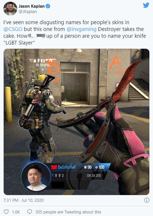 Để lộ cụm từ nhạy cảm khi ăn mừng, tuyển thủ CS:GO bị cộng đồng lên án dữ dội - Ảnh 2.
