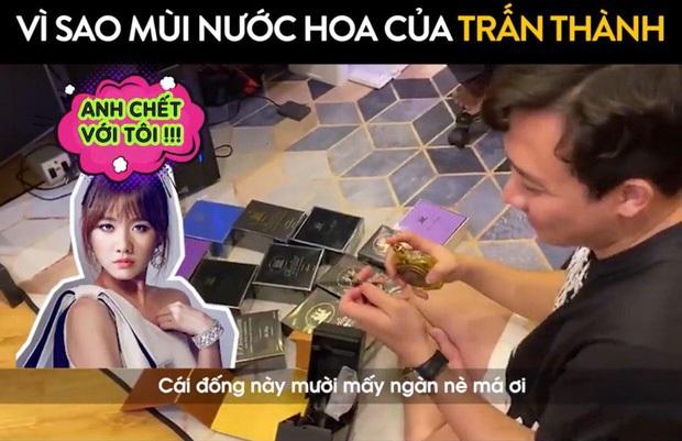Hari Won lên sóng truyền hình kể khổ vì Trấn Thành tậu 1 lúc 100 chai nước hoa, lau tủ BST còn hơn ôm vợ ngủ - Ảnh 6.