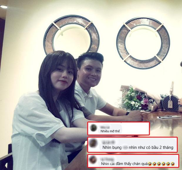 Huỳnh Anh (bạn gái Quang Hải) bị fan phát hiện vòng bụng lớn bất thường - Ảnh 1.
