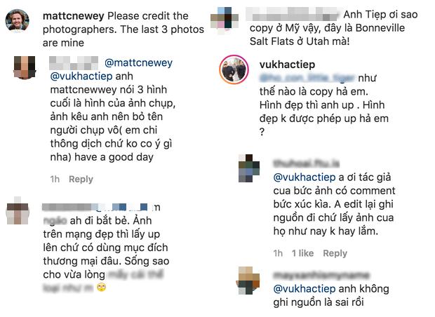 Vũ Khắc Tiệp bị nhiếp ảnh gia nước ngoài report Instagram vì dùng chùa ảnh mà không chịu xin lỗi - Ảnh 3.