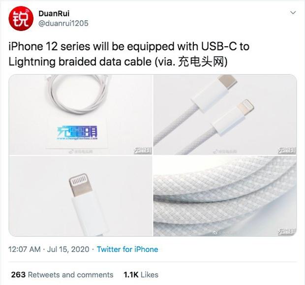 Rò rỉ hình ảnh cáp sạc mới của iPhone 12 - Ảnh 1.