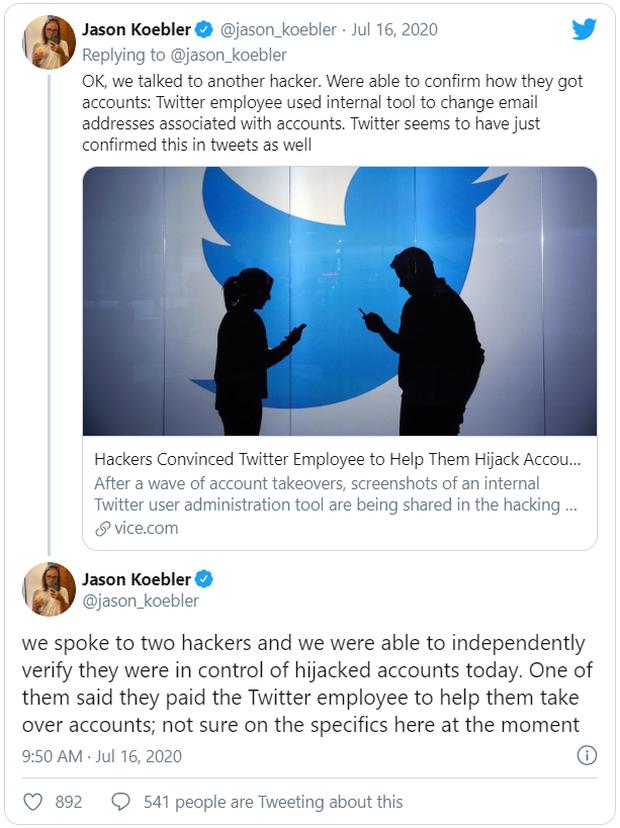 Có thể chính nhân viên của Twitter hoặc công cụ của Twitter đã tham gia vào vụ hack lịch sử vừa xảy ra - Ảnh 3.