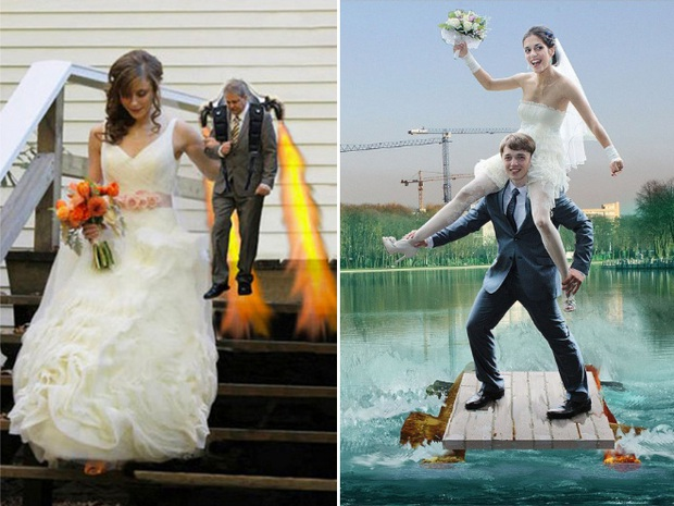 Những bức ảnh cưới xấu đến phát hờn khiến cô dâu chú rể nhìn xong là muốn huỷ luôn đám cưới - Ảnh 21.