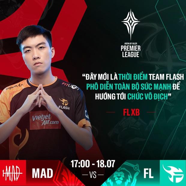 APL 2020: Xuân Bách rất vui vì gặp MAD Team, khẳng định chắc nịch: Đây mới là thời điểm mà Team Flash phô diễn sức mạnh - Ảnh 5.