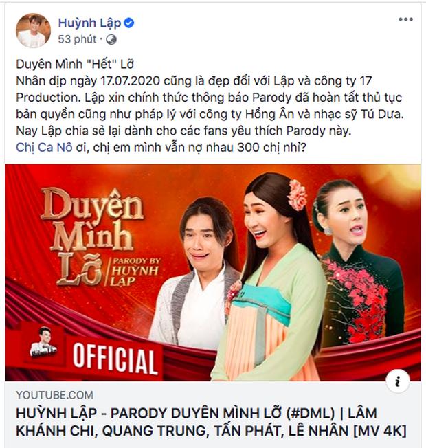 Sau khi hoàn tất thủ tục bản quyền, MV parody Duyên Mình Lỡ đã trở lại nhưng Huỳnh Lập vẫn mắc nợ chị cano 300 nghìn từ... 2 năm trước - Ảnh 4.