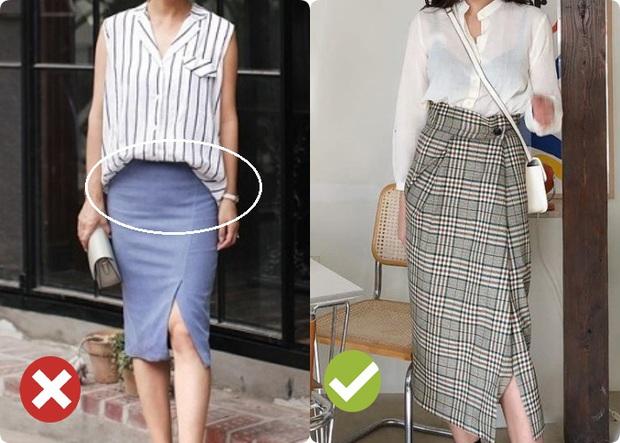 3 kiểu chân váy phản chủ khiến bụng phẳng lỳ bỗng nhấp nhô lộ rõ mồn một - Ảnh 9.