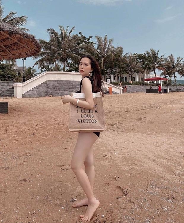 Em họ Hương Tràm bầu 6 tháng vẫn chăm diện bikini khoe dáng, đã nuột thì bụng to mấy cũng không làm khó được - Ảnh 3.