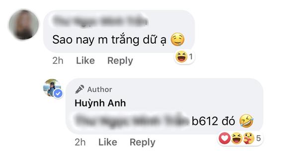 Bạn vào tận Facebook hỏi sao trắng dữ vậy, Huỳnh Anh - bồ Quang Hải trả lời hồn nhiên: Chỉnh đấy! - Ảnh 3.