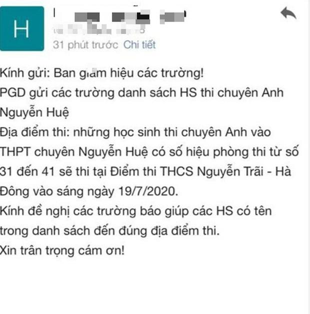 """Sở GD-ĐT Hà Nội lên tiếng về """"sự cố"""" đổi địa điểm thi lúc nửa đêm - Ảnh 1."""