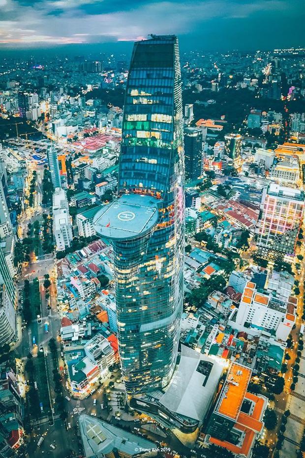 Khoảnh khắc 2 toà tháp cao nhất Sài Gòn vô tình lọt chung khung hình khiến dân mạng thảng thốt: Đẹp như cảnh trong phim Hollywood vậy! - Ảnh 4.