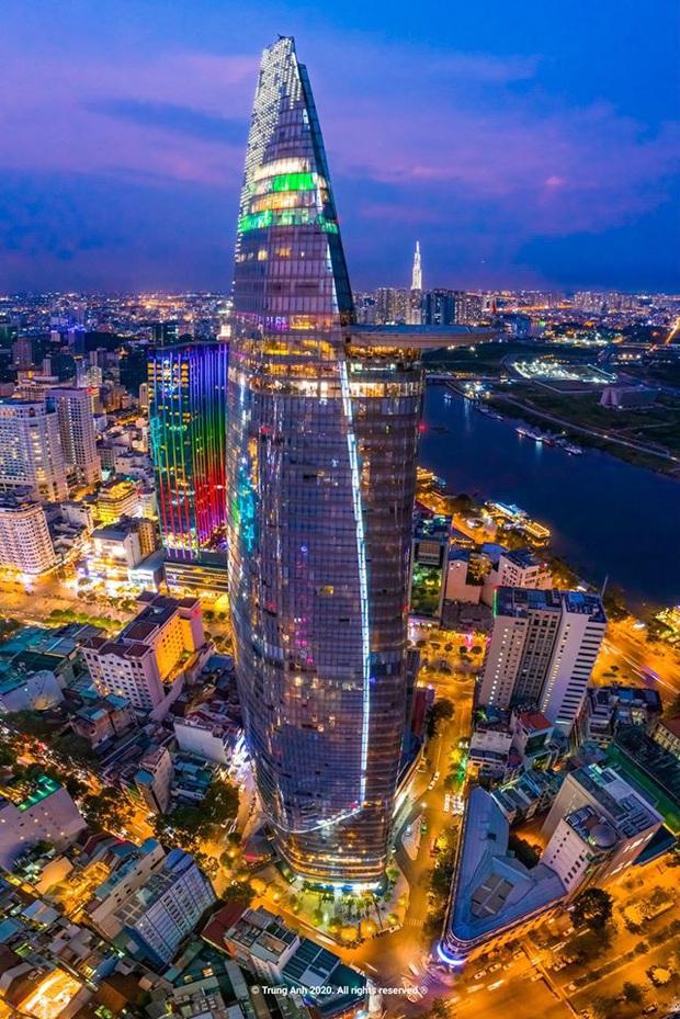 Khoảnh khắc 2 toà tháp cao nhất Sài Gòn vô tình lọt chung khung hình khiến dân mạng thảng thốt: Đẹp như cảnh trong phim Hollywood vậy! - Ảnh 2.