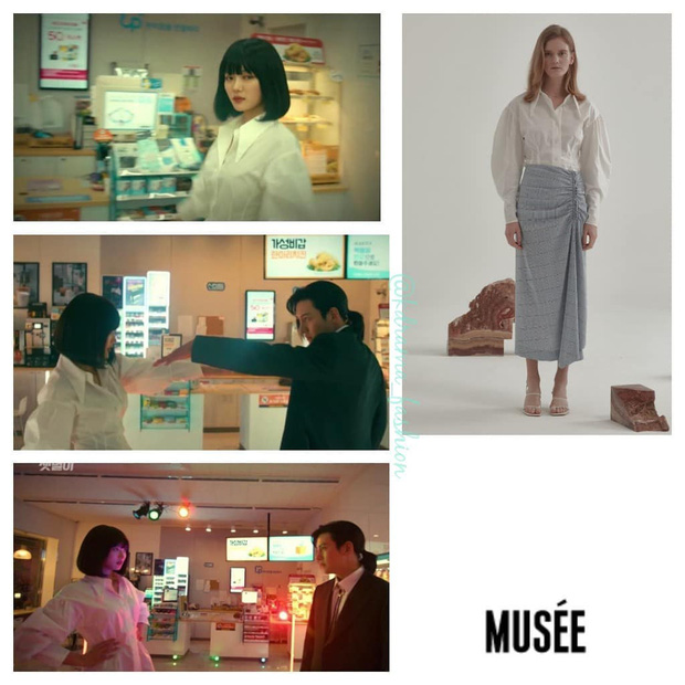 Vào vai cô nhân viên cửa hàng tiện lợi, mỹ nhân Kim Yoo Jung diện đồ hết sức bình dân, có nhiều món giá chỉ loanh quanh 500k - Ảnh 9.