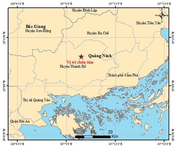 Xảy ra động đất 2,6 độ richter ở Quảng Ninh - Ảnh 1.