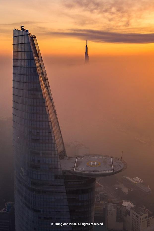 Khoảnh khắc 2 toà tháp cao nhất Sài Gòn vô tình lọt chung khung hình khiến dân mạng thảng thốt: Đẹp như cảnh trong phim Hollywood vậy! - Ảnh 1.