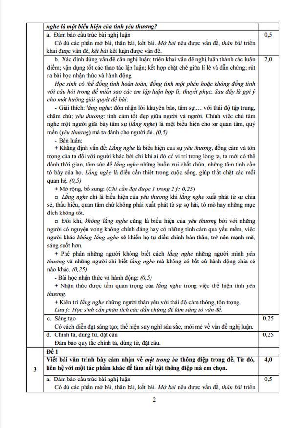 Đáp án chính thức 3 môn thi vào lớp 10 do sở GD&ĐT TP.HCM công bố - Ảnh 2.