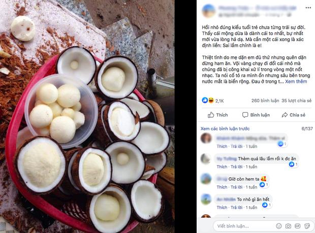 """Mộng dừa - món ăn tuổi thơ của người Việt từng bị """"độn"""" giá lên tới 300k/kg vì quá hiếm, nếu mua cái càng to thì… càng dở - Ảnh 6."""