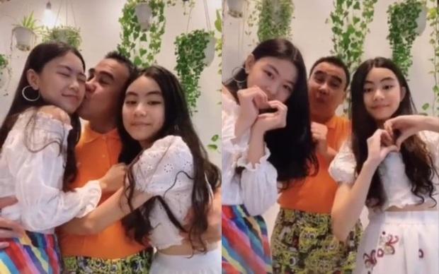 Gia đình MC Quyền Linh tung clip nhảy cực ăn ý, Lọ Lem - Hạt Dẻ nổi hơn cả bố với chiều cao và khí chất Hoa hậu tương lai - Ảnh 3.
