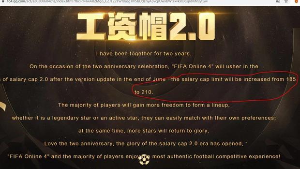 Garena sẽ làm thay đổi hoàn toàn FIFA Online 4 khi nâng mức lương từ 185 lên 210? - Ảnh 2.