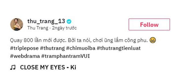TikTok lại có trend mới, diễn viên Thu Trang phải quay 800 lần mới xong được clip - Ảnh 2.