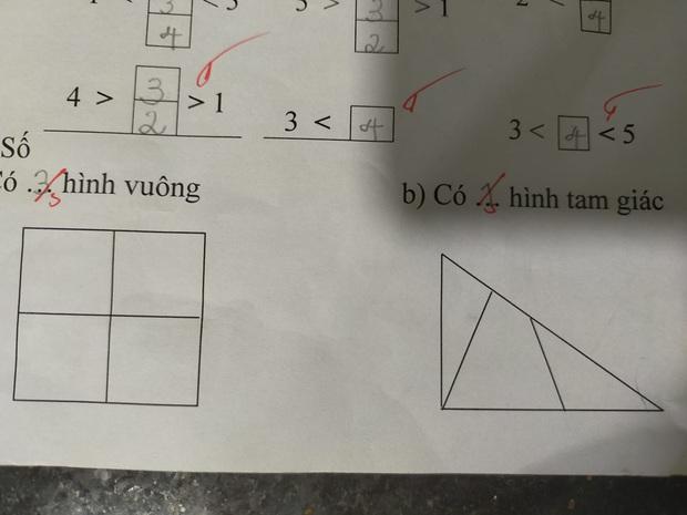 Bài toán lớp 1 khiến phụ huynh và giáo viên khăng khăng trò làm sai, nghe giải thích xong ai cũng phục óc quan sát của con trẻ - Ảnh 1.