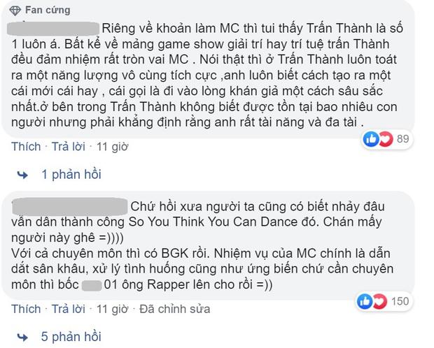 Nhiều khán giả không hài lòng khi Trấn Thành làm MC Rap Việt, Wowy lên tiếng bênh vực - Ảnh 2.