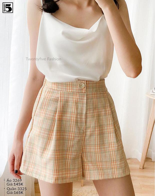 Bạn có nhắm mắt cũng mặc đẹp nếu mix quần short ống rộng với 12 kiểu áo xinh yêu này - Ảnh 13.