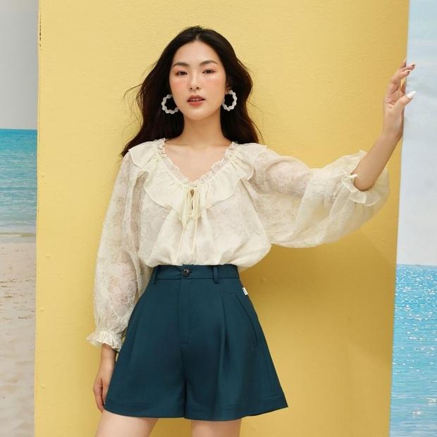 Bạn có nhắm mắt cũng mặc đẹp nếu mix quần short ống rộng với 12 kiểu áo xinh yêu này - Ảnh 3.