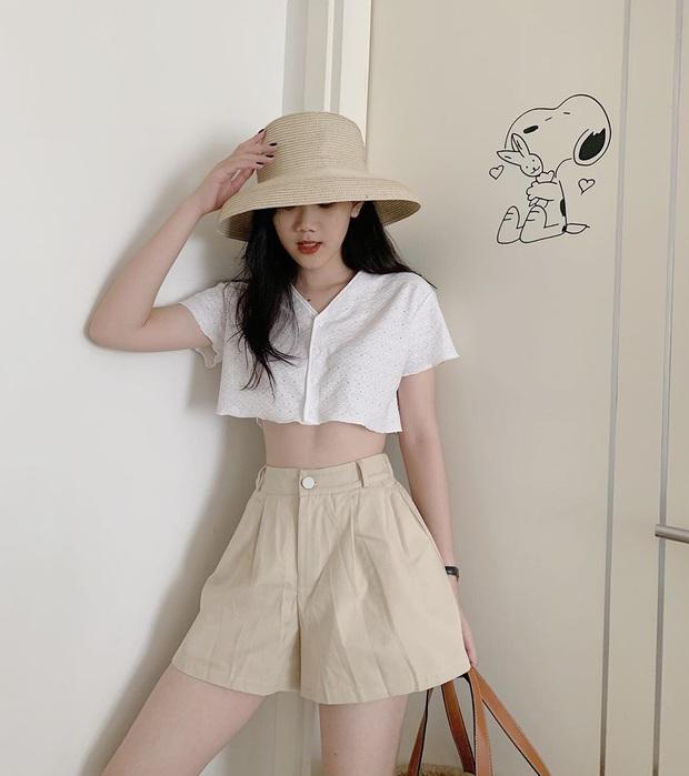 Bạn có nhắm mắt cũng mặc đẹp nếu mix quần short ống rộng với 12 kiểu áo xinh yêu này - Ảnh 7.