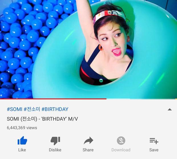 Bài mới của Somi sau 24h phát hành: Đổ xô kỷ lục lượt xem của BIRTHDAY nhưng thứ hạng nhạc số xách dép chạy theo cũng không kịp - Ảnh 4.