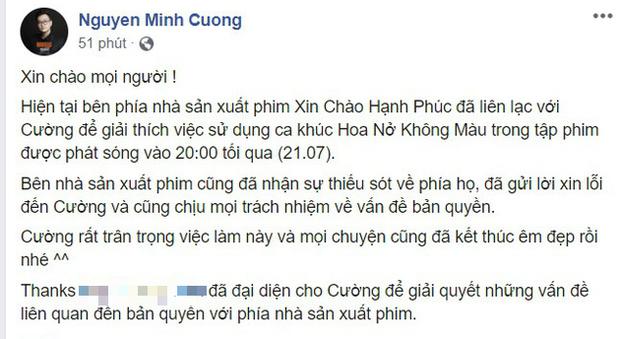 NSX Xin Chào Hạnh Phúc thừa nhận đã không kiểm tra kĩ và gửi lời xin lỗi đến nhạc sĩ Hoa Nở Không Màu vì sử dụng ca khúc trái phép - Ảnh 5.