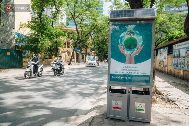 Thùng rác công nghệ với tấm pin mặt trời trên đường phố Hà Nội: Truyền cảm hứng bảo vệ môi trường đến người dân - Ảnh 5.