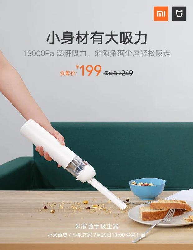 Xiaomi giới thiệu máy hút bụi cầm tay Mijia mới, giá hơn 600.000 đồng - Ảnh 2.
