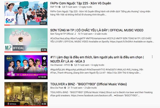 Sơn Tùng M-TP chính thức mất top 1 trending sau 19 ngày, nhường ngôi cho FAPtv vừa có thành viên lên tiếng chỉ trích cộng đồng Sky - Ảnh 1.